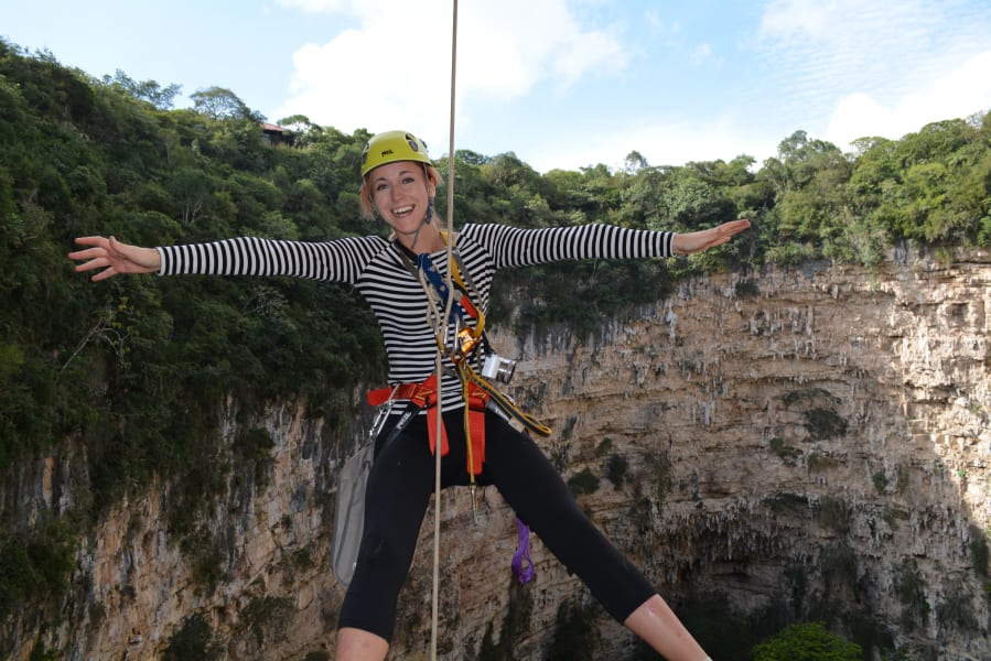 EcoExperiencias Rappelling in the Sinkhole of Parrots Chiapas Mexico undefined