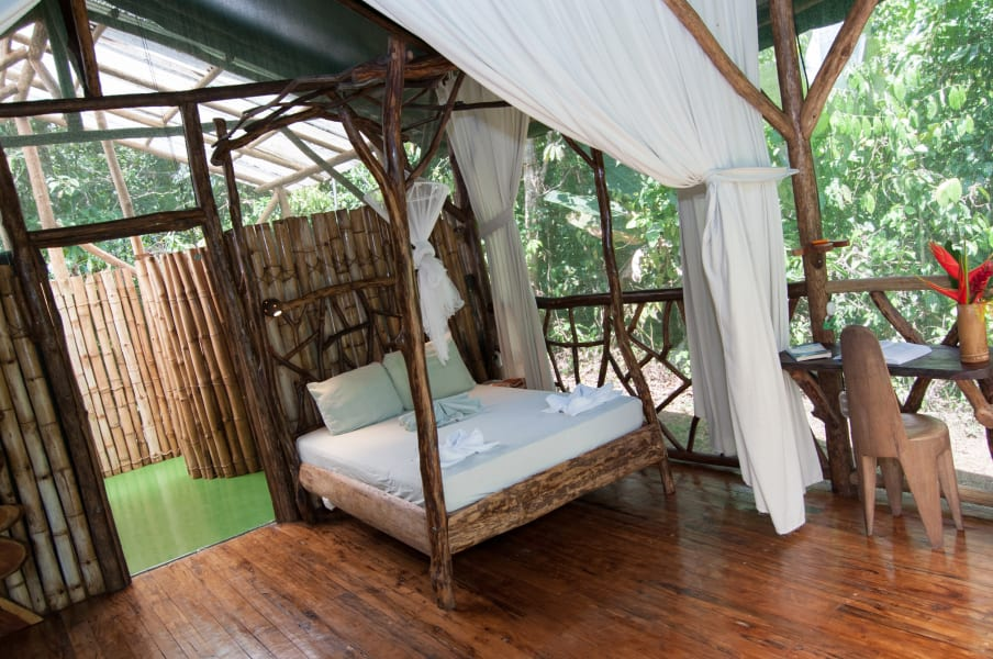 Danta Corcovado Lodge Danta Lodge Rainforest Bungalow La Palma Costa Rica Sleep comfortably in the middle of the rainforest