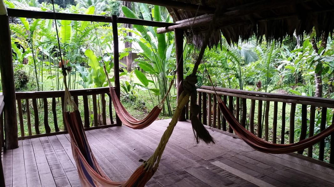 Osa Wild Travel Corcovado National Park and Drake Bay Wilderness Adventure Drake Bay Costa Rica Relax in a hammock after a day of hiking