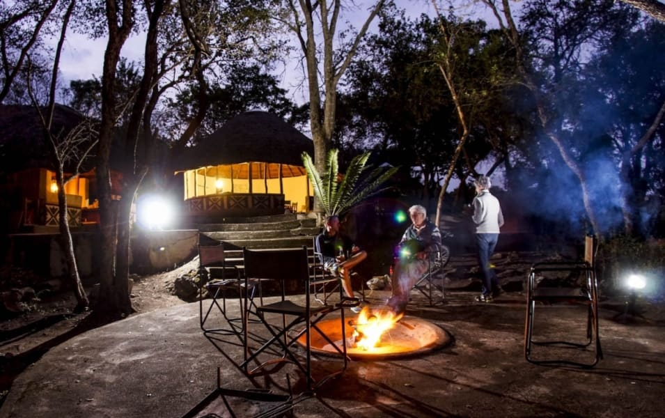 Transfrontier Parks Destinations Limpopo Wildlife and Cultural Adventure Phalaborwa South Africa Enjoy an evening by the fire at Madjadji Camp
