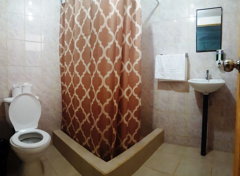 Drake Bay Backpackers Hostel in Quiet Village of El Progreso  San Jose Costa Rica Hostel bathroom