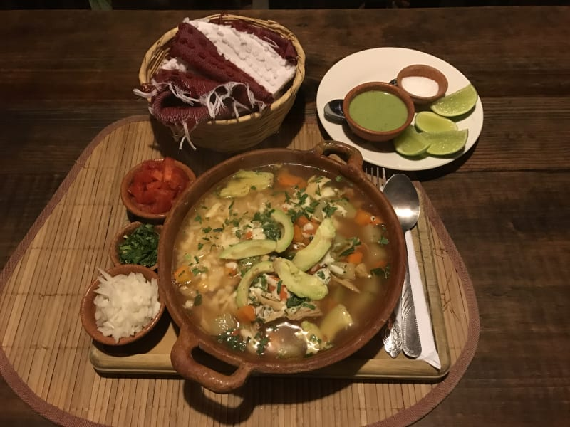 Lokal Adventures Immersive Guatemalan Culture and Nature Adventure Antigua to Peten Guatemala Caldo Tlalpeño...delicious!