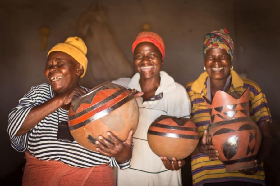 Transfrontier Parks Destinations Limpopo Wildlife and Cultural Adventure Phalaborwa South Africa Meet local ladies in Fundudzi