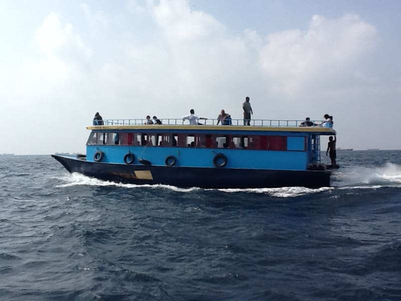 Secret Paradise Maldives Dive to Conserve Marine Life in the Maldives Villimale Maldives Taking the public ferry