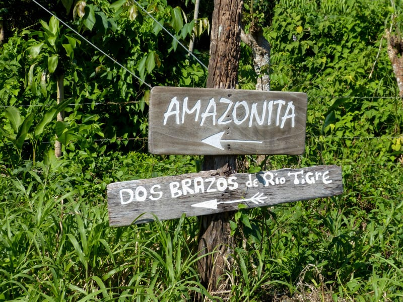 Conservation Association of Dos Brazos Amazonitas Rainforest Lodge Dos Brazos Costa Rica This way to Amazonitas lodge!
