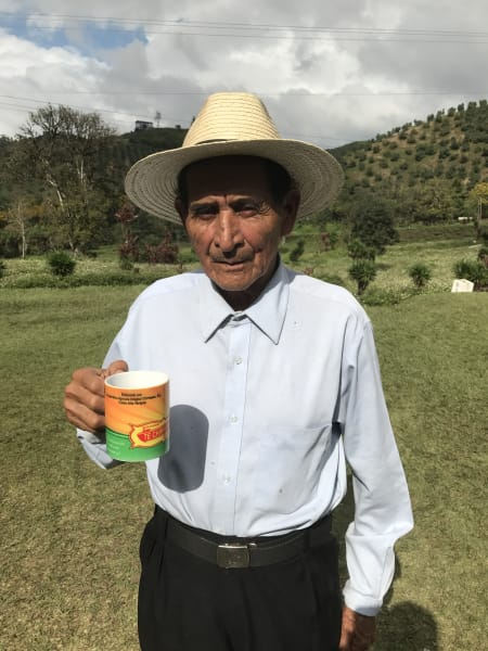 Lokal Adventures Immersive Guatemalan Culture and Nature Adventure Antigua to Peten Guatemala One of the founders of the Chirripeco community enjoying a hot cup o tea!