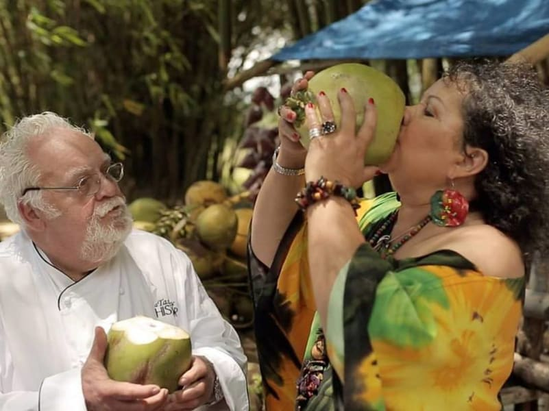 Countrystyle Community Experience Jamaican Taste Experience St. Elizabeth Jamaica Drinking a coconut, Jamaican-style!