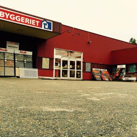 Inngang butikk Byggeriet Ørje