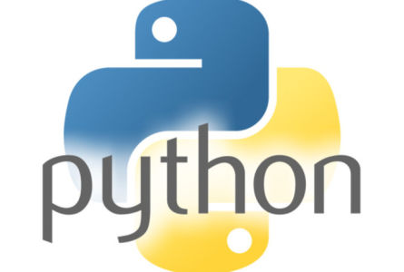 Logo of the Python programming language.