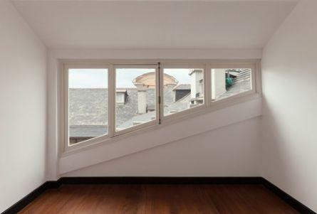 Montering av vinduer - illustrasjon.