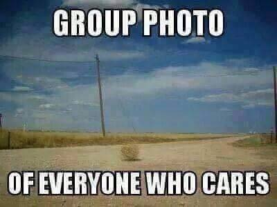 Group photo of everyone that cares