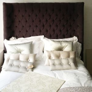 Deep Buttoned Headboard - decent attachment to your bed