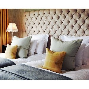 Tufted Cotton Headboard - add some style to your bedroom