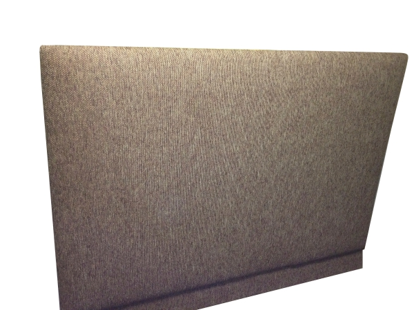 Brown Cotton Linen Headboard - Easily attached to any divan base bed
