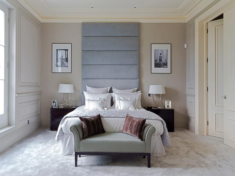 Silver Upholstered Headboard - London High Headboards