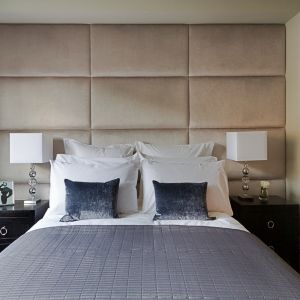 Beige Upholstered Wall Panel