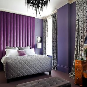 Purple Upholstered Headboard