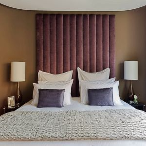 Purple Velvet Upholstered Headboard
