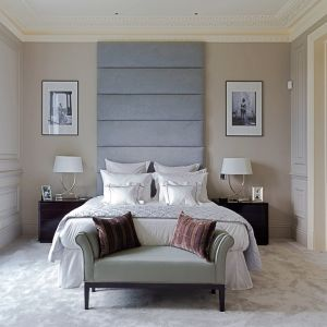 Silver Upholstered Headboard