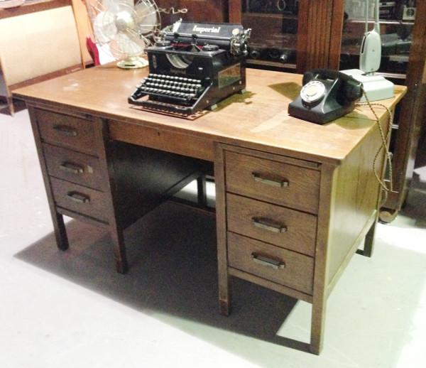 2: Vintage oak desk