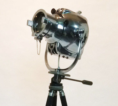 4: Vintage 'Strand Electric' Polished Chrome Spotlight