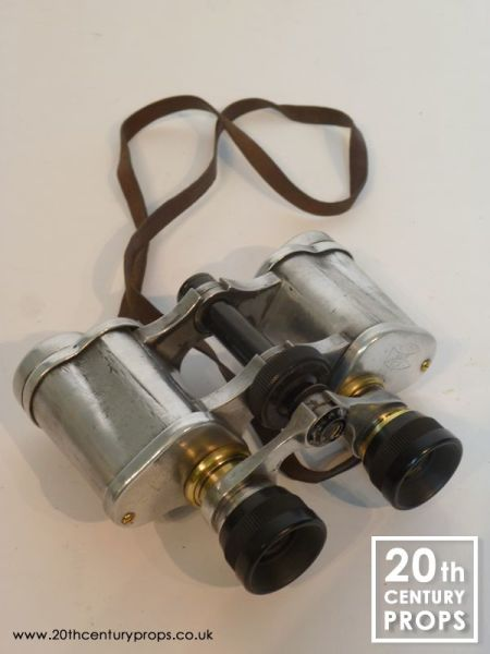 2: Vintage polished chrome binoculars