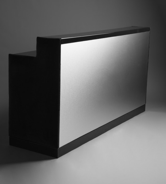 2: Brushed aluminium bar black
