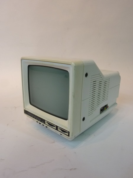 4: Mini Portable White 1990's TV