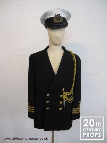 1: Naval officers jacket and cap