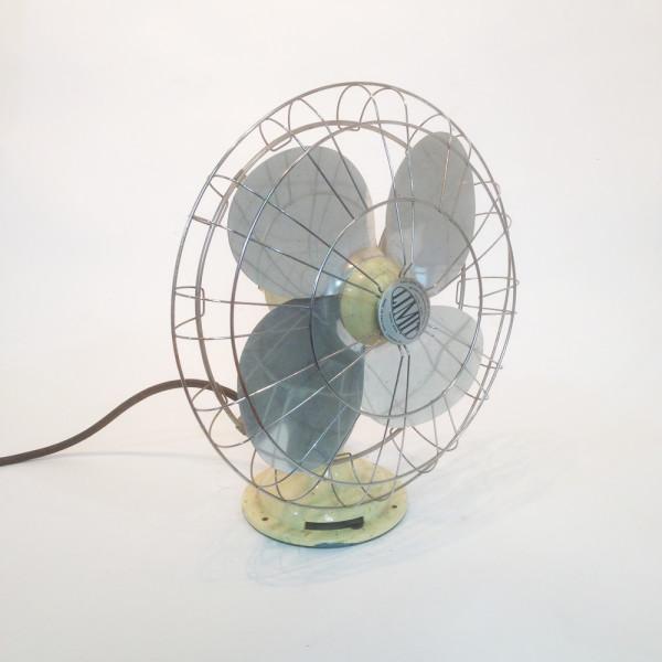 1: Large industrial desk fan - Cream