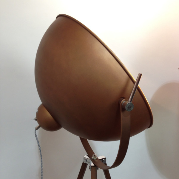 5: Domed Stage Light - Copper & Gold Leaf