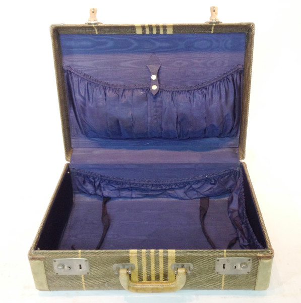 5: Green with Yellow Stripes Suitcase