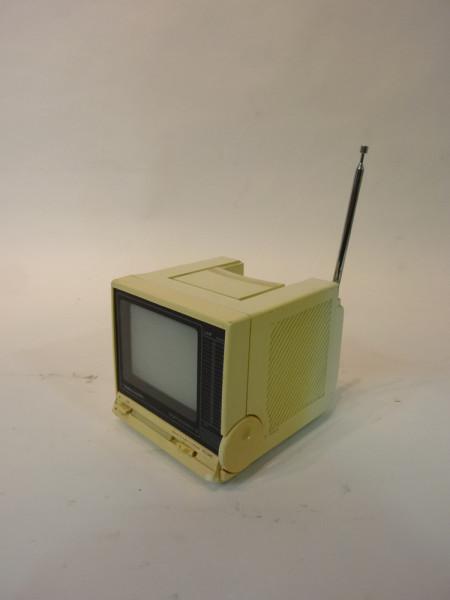 3: White Portable Mini 1980's TV