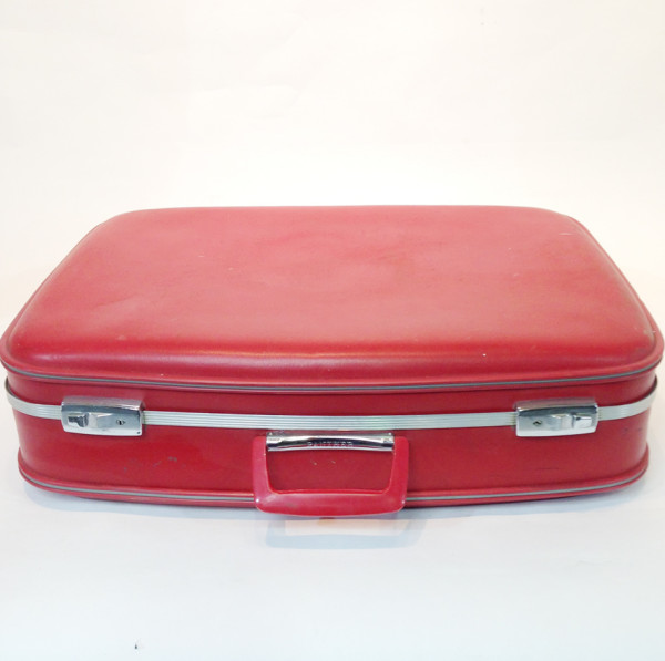 1: Red Hard Shell Suitcase