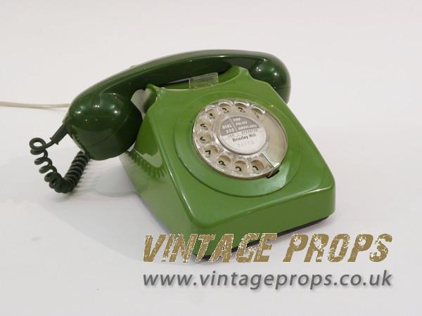 1: Vintage Green Telephone