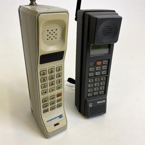 4: 1980's retro Philips portable cellular phone