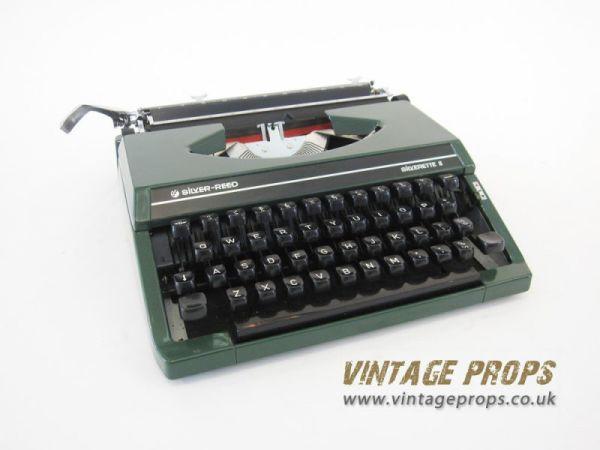 1: 1950's typewriter