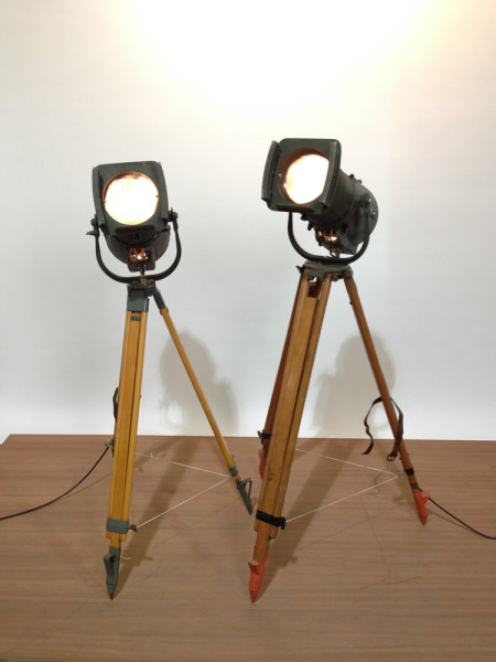 1: Vintage Industrial Spotlight with Long Lenses