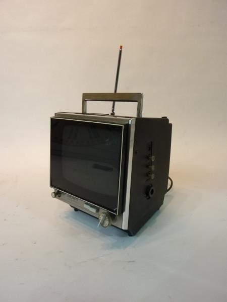 4: Black Mini Portable 1980's TV