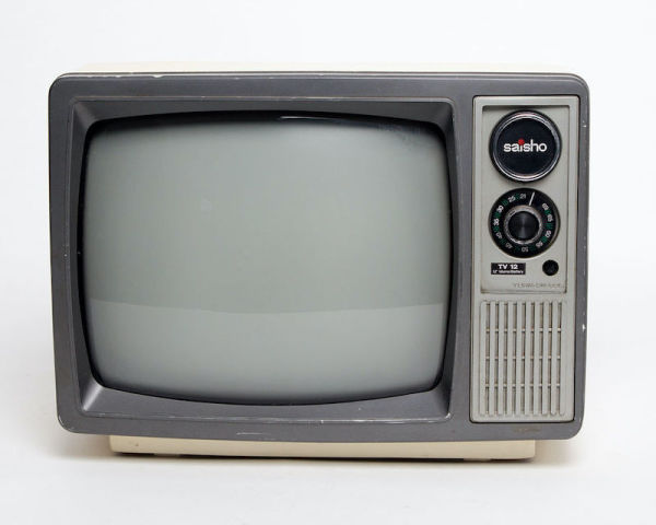 4: Fully working black & white Saisho TV