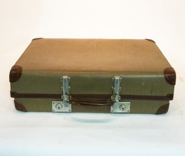 1: Beige Hard Shell Suitcase