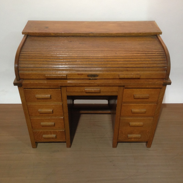 3: Oak roll top desk