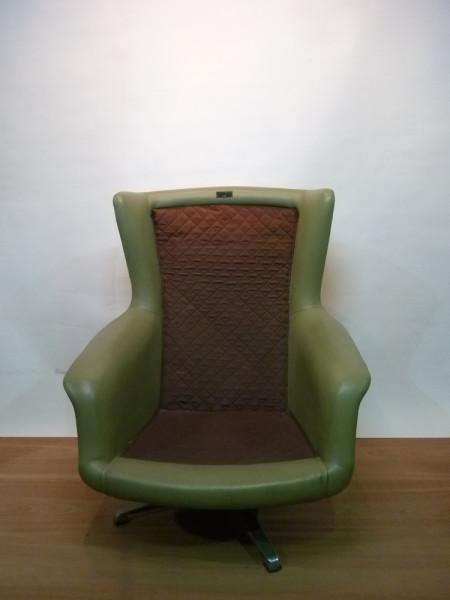 1: Green 1960's Retro Swivel Chair