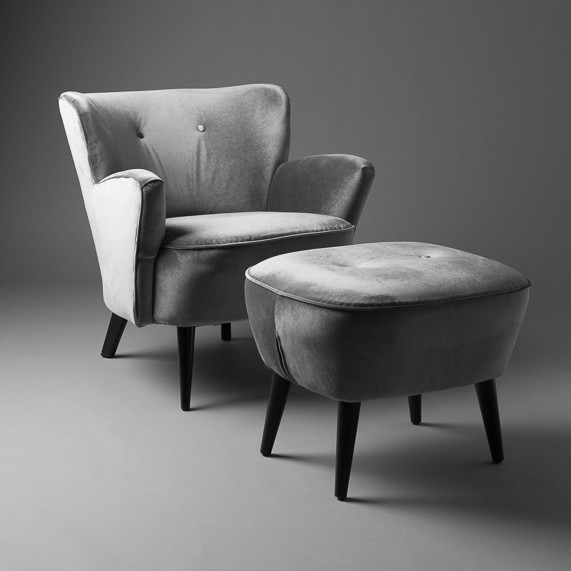 3: Cocktail armchair - Grey