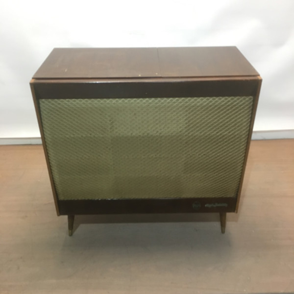 3: Vintage music cabinet with record player