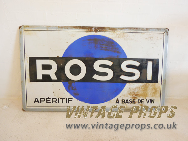 1: Enamel advertising sign