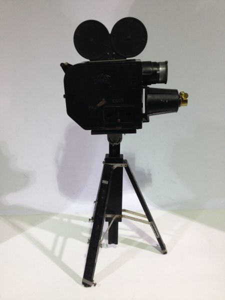 1: Vintage movie camera projector