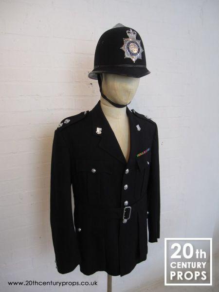 2: Vintage policemans jacket and helmet