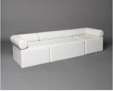 2: White Single Bolster Modular Seat Sofa