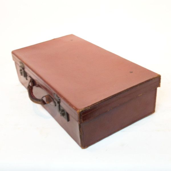 5: Brown Leather Suitcase
